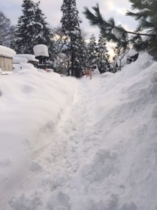 雪片付け前